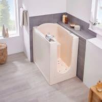 Florida Low Level Access Deep Soak Walk in Bath 980mm x 660mm BioCote Antimicrobial  Tub